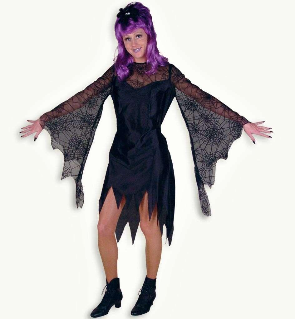 Dámský kostým čarodějnice pavoučí žena  d20b62f9bcc