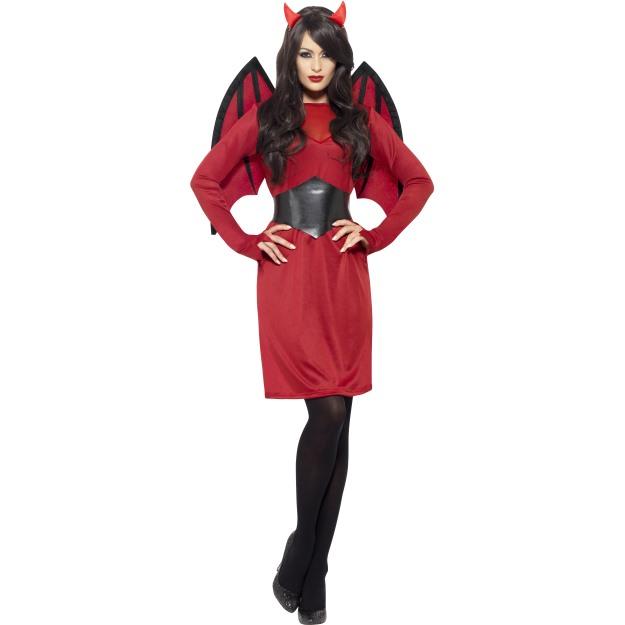 a0ee3baf995c Dámský kostým čertice červené šaty