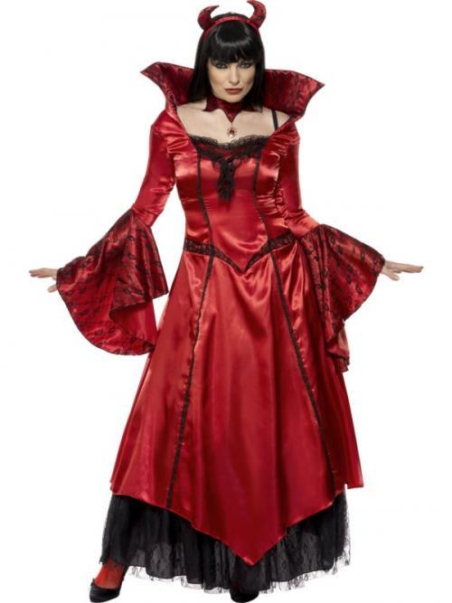73c90be0ec71 Dámský kostým čertice (dlouhé šaty)