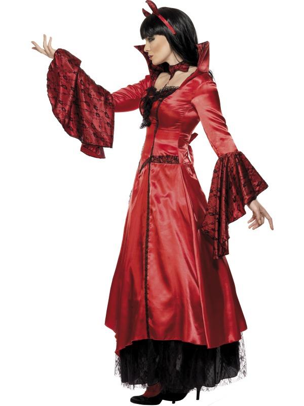 Dámský kostým čertice (dlouhé šaty)  5109b6e7325