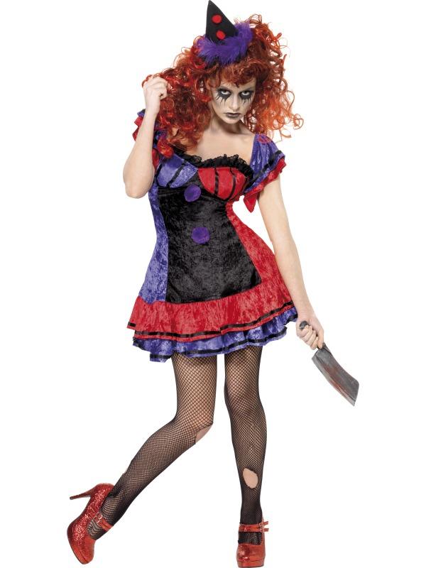 681519029c03 Dámský kostým klaun halloween (strašidelný)