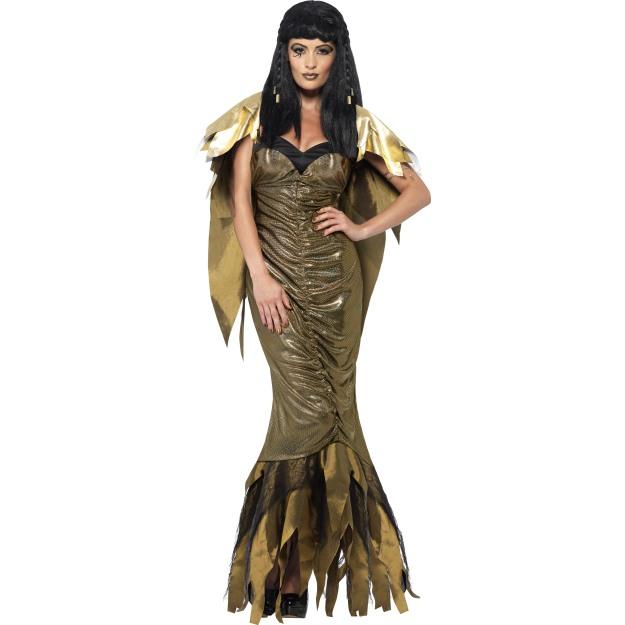 Dámský kostým kleopatra - zlaté šaty  3bb163afa11