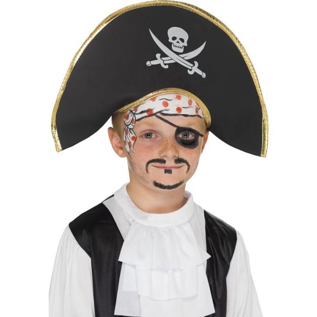 Klobouk pirátský s vlasy a šátkem (Jack Sparrow)  c079ec0c4b