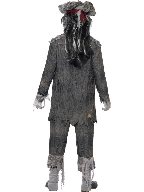 Pánský kostým Duch piráta šedý  d9e5d41483e
