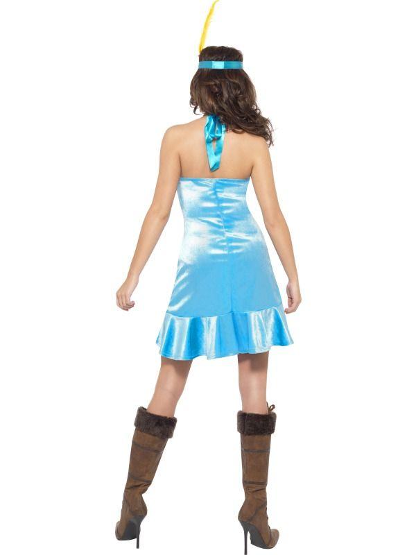 Dámský kostým Sexy indiánka modrá  f25e6f5556