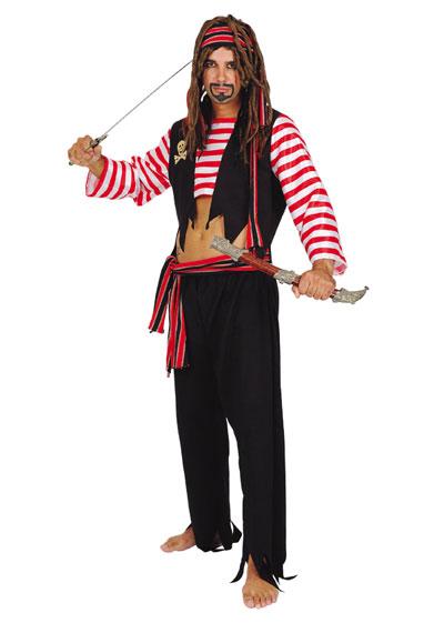 Pánský kostým pirát (černý)  8c3e5e300b5