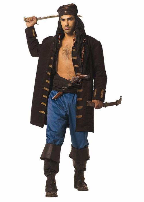 Pánský kostým pirát (tmavě hnědý)  7e5548e3258
