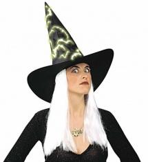 63bd74db41c Čarodějnický klobouk s fosforujícími vlasy