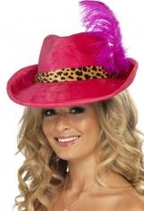 Dámský klobouk růžový