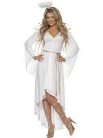 Dámský kostým bílý anděl (s doplňky)