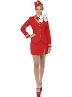 Dámský kostým letuška (červený)