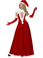 Dámský kostým Miss Santa dlouhý