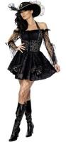 Dámský kostým pirátka (krajkové rukávy)