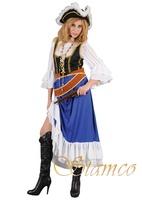 Dámský kostým pirátka (modrý)