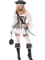 Dámský kostým pirátka (s volánky)