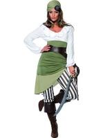 Dámský kostým pirátka (zelený)