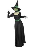Dámský kostým zlá čarodějnice černý