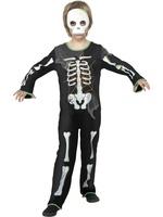 Dětský kostým kostlivec s bílou maskou