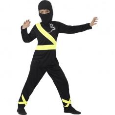 Dětský kostým ninja se žlutými doplňky