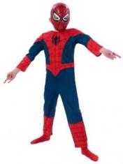 Dětský kostým spiderman s plastovou maskou