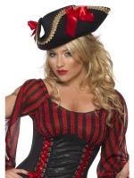 Klobouk Pirátský dámský s mašlemi