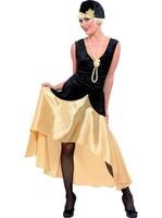 Dámský kostým 20.léta černo-zlatý (Gatsby)