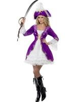 Dámský kostým Pirátka fialová