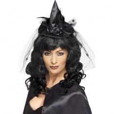 aff612192b9 Miniklobouk čarodějnice na čelence - černý