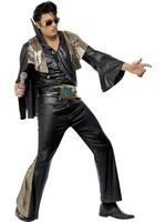 Pánský kostým Elvis (černo-zlatý)