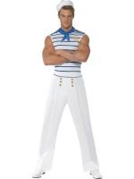 Pánský kostým námořník (s pruhovaným trikem)