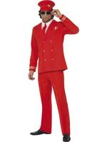 Pánský kostým pilot červený
