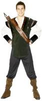 Pánský kostým Robin Hood (tmavě zelený)