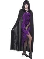 Černý plášť s kapucí unisex