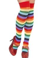 Punčochy klaun pruhované barevné