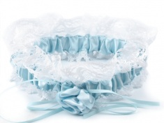 Podvazek pro nevěstu modrý